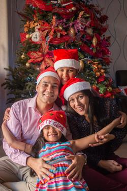 navidad, foto, sesión, familia