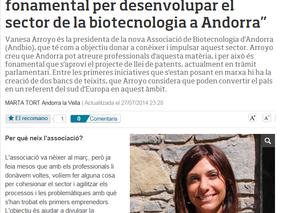 """Vanesa Arroyo: """"La llei de patents és fonamental per desenvolupar el sector de la biotecnologia a An"""