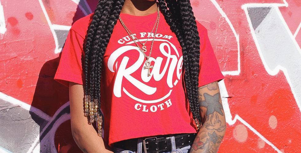Ladies Red Crop Tee-Shirt