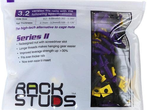 UK Rackstuds Series II 100-pack, Purple, 3.2mm