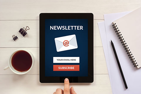 Subscribe newsletter concept on tablet s