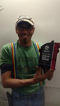 Keith recieving an award