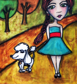 Autumn and Her Dog | Mary Claire