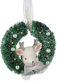 Snowbabies Reindeer Wreath