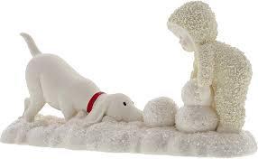 Snowbabies Making a Friend