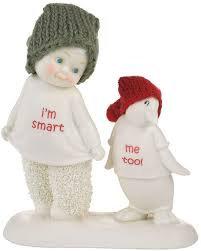 Snowbabies I'm Smart, Me too