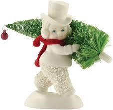 Snowbabies Toting the Tree