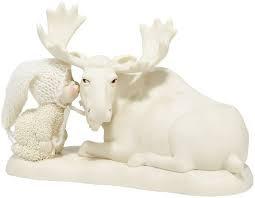 Snowbabies Kiss a Moose Goodnight