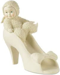 Snowbabies Mommy Can I Wear Your Shoes