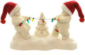 Snowbabies Tug O Lights