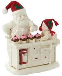 Snowbabies Baking in the Kitchen