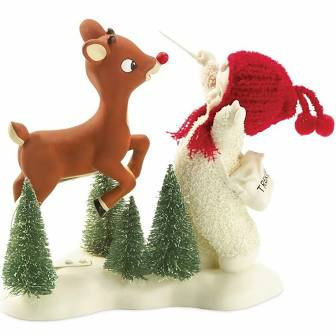 Snowbabies Rudolph's Flying Lesson
