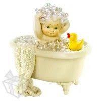 Snowbabies Bathed in Bubbles