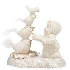 Snowbabies12 Days of Christmas Four Calling Birds