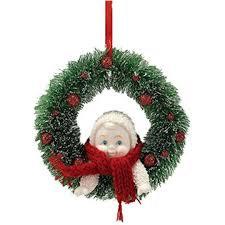 Snowbabies Baby in Wreath Ornament