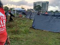 Famílias sem-teto sofrem atentado no Recife