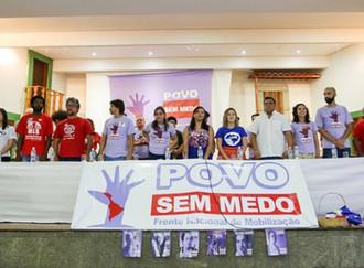 """Frente POVO SEM MEDO: """"Estaremos nas ruas em defesa da radicalização da nossa democracia"""""""