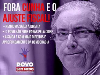 Frente Povo Sem Medo convoca ato Fora Cunha para o próximo dia 8 de novembro