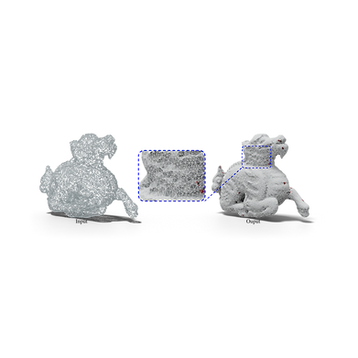 Learning to recover meshes from point clouds