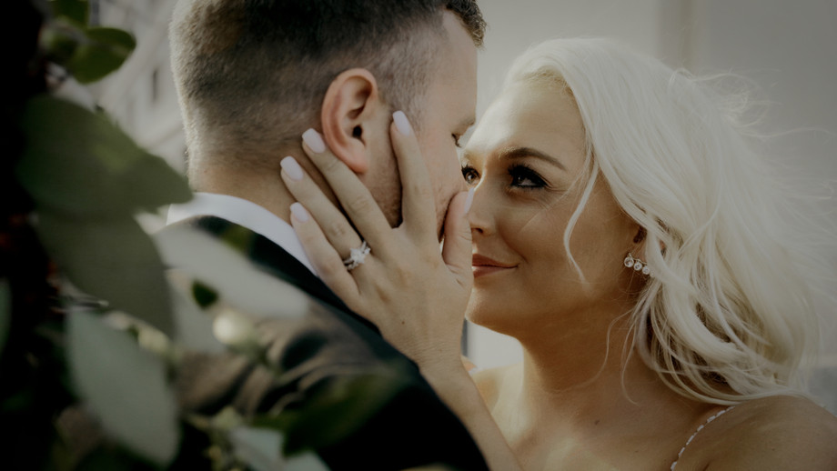 stylish bride up close