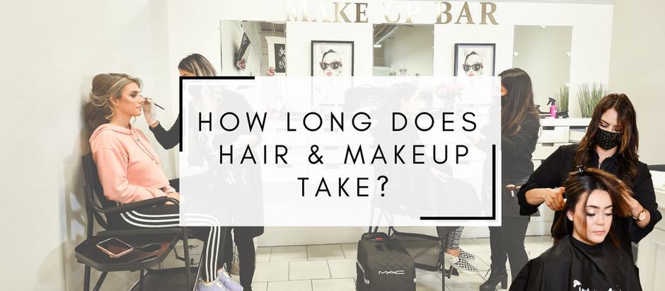 BRIDAL HAIR & MAKEUP: HOW LONG DOES IT TAKE?