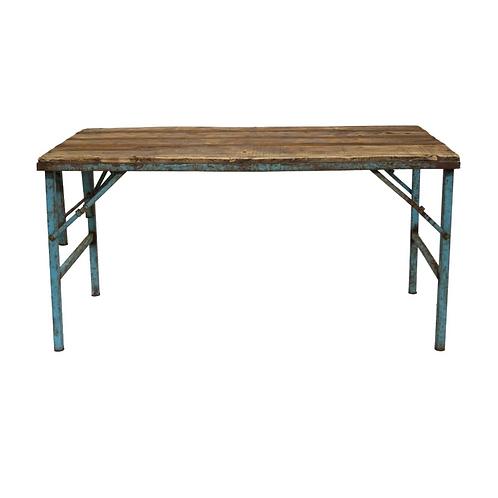 Ancienne table à dîner bois/métal
