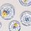 Thumbnail: Assiette Rose - Bleu GM