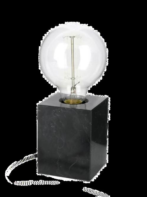 Lampe à poser en marbre noir Athens - Carré