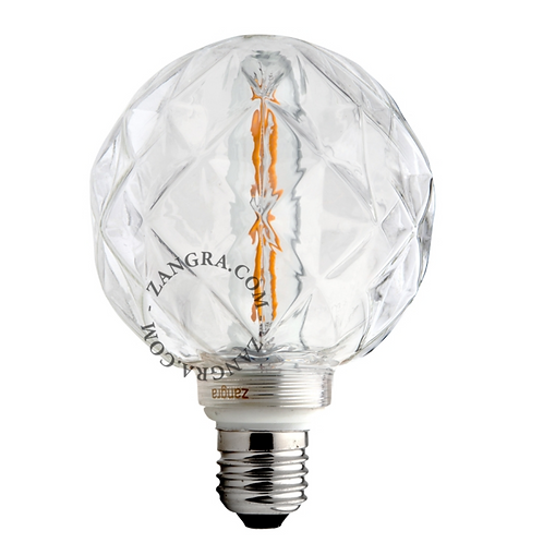 Ampoule LED Filament Concave Transparente