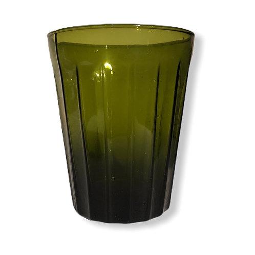 Verre à eau Lucca vert bouteille