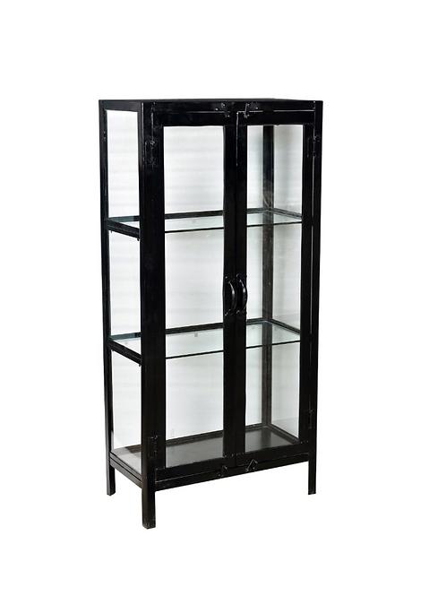 Meuble cabinet en verre et métal