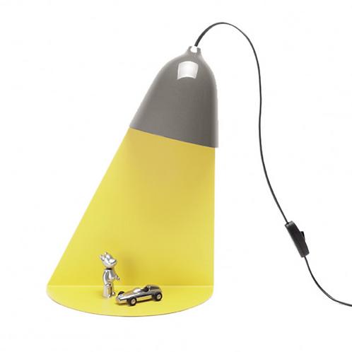 Lampe Faisceau + Étagère -Gris