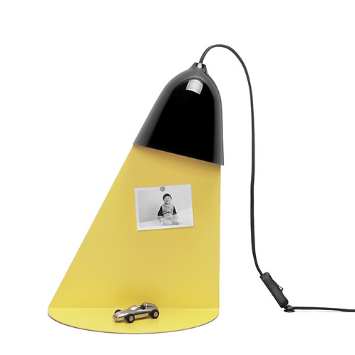 Lampe Faisceau + Étagère - Noire