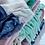 Thumbnail: Plaid en laine mélangée Vert/Bleu