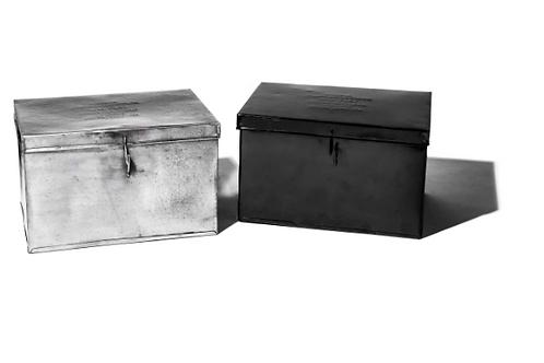 Boîte en métal Argent GM