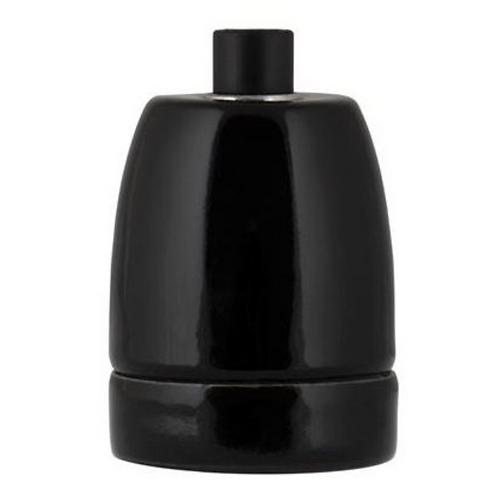 Douille en porcelaine - Noire
