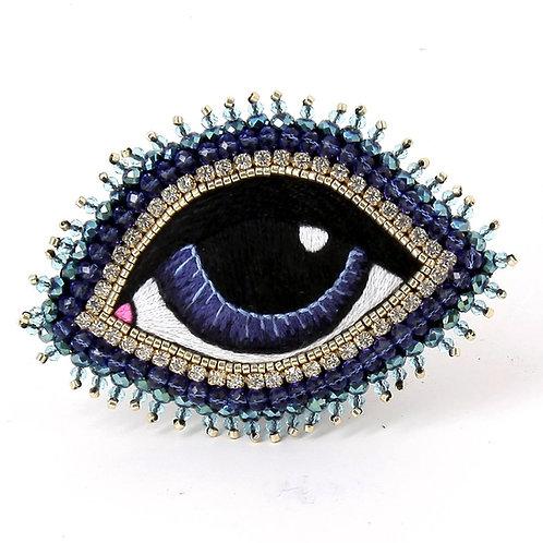 Broche Oeil Bleu M