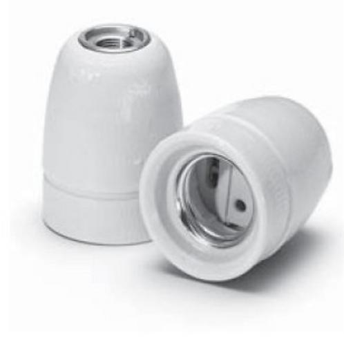 Douille en porcelaine - Blanc