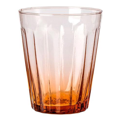 Verre à eau Lucca orange