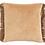 Thumbnail: Coussin velours avec franges bicolore - Terracotta