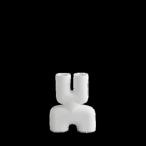 Vase Cobra Double Mini - Blanc