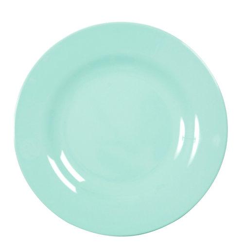 Assiette plate en mélamine Verte