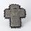 Thumbnail: Broche Croix Coeur et Fleurs