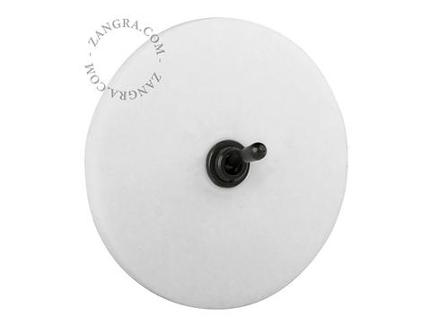Interrupteur à bascule en marbre - Noir