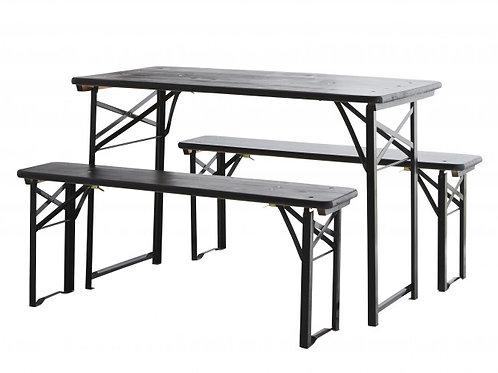 Table pliante avec ses 2 bancs