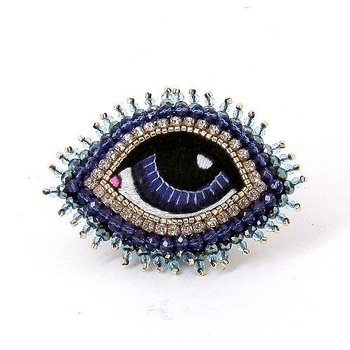 Broche Oeil Bleu S