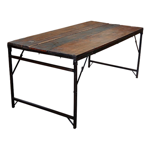 Table à manger en bois recyclé