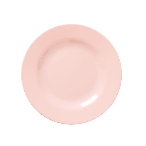 Assiette plate en mélamine Rose