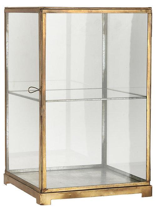 Cabinet en métal et verre
