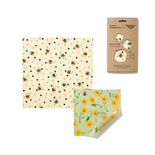 the beeswax wrap co reusable food wraps - emma bridgewater collection